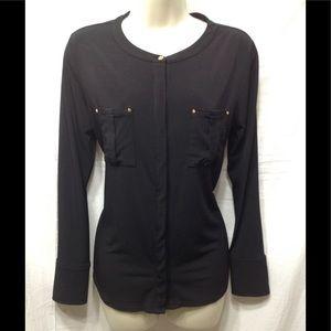 Women's sz Medium DANA BUCHMAN button-down blouse